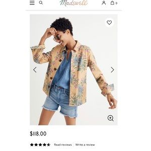 Madewell Tailored Workwear Jacket in Painted Bloom